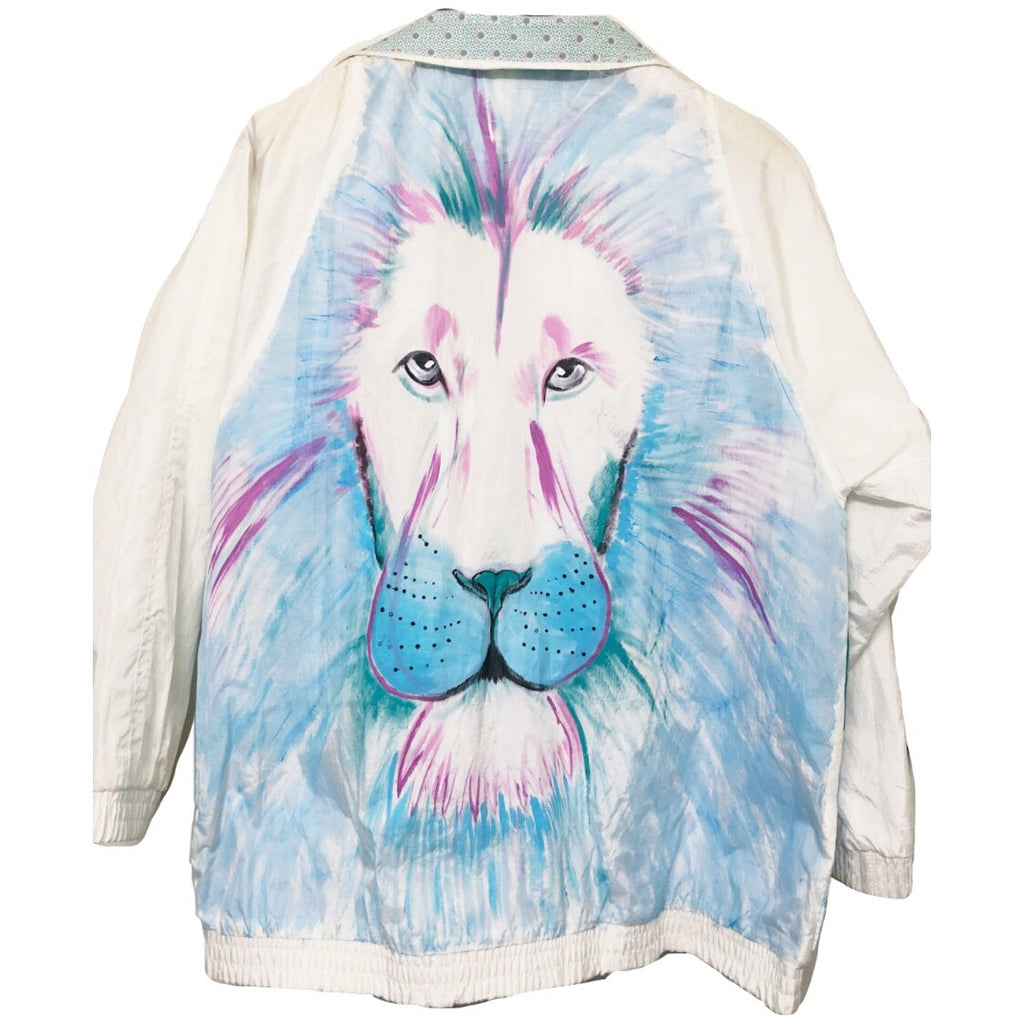 Hand Painted Lion Windbreaker