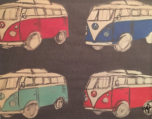 Multi Volkswagon Bus Print