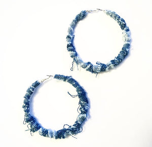 Large denim hoops