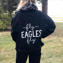 Load image into Gallery viewer, Fly Eagles Fly Denim Jacket