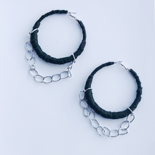 Load image into Gallery viewer, HJ Pleather Chain Hoops