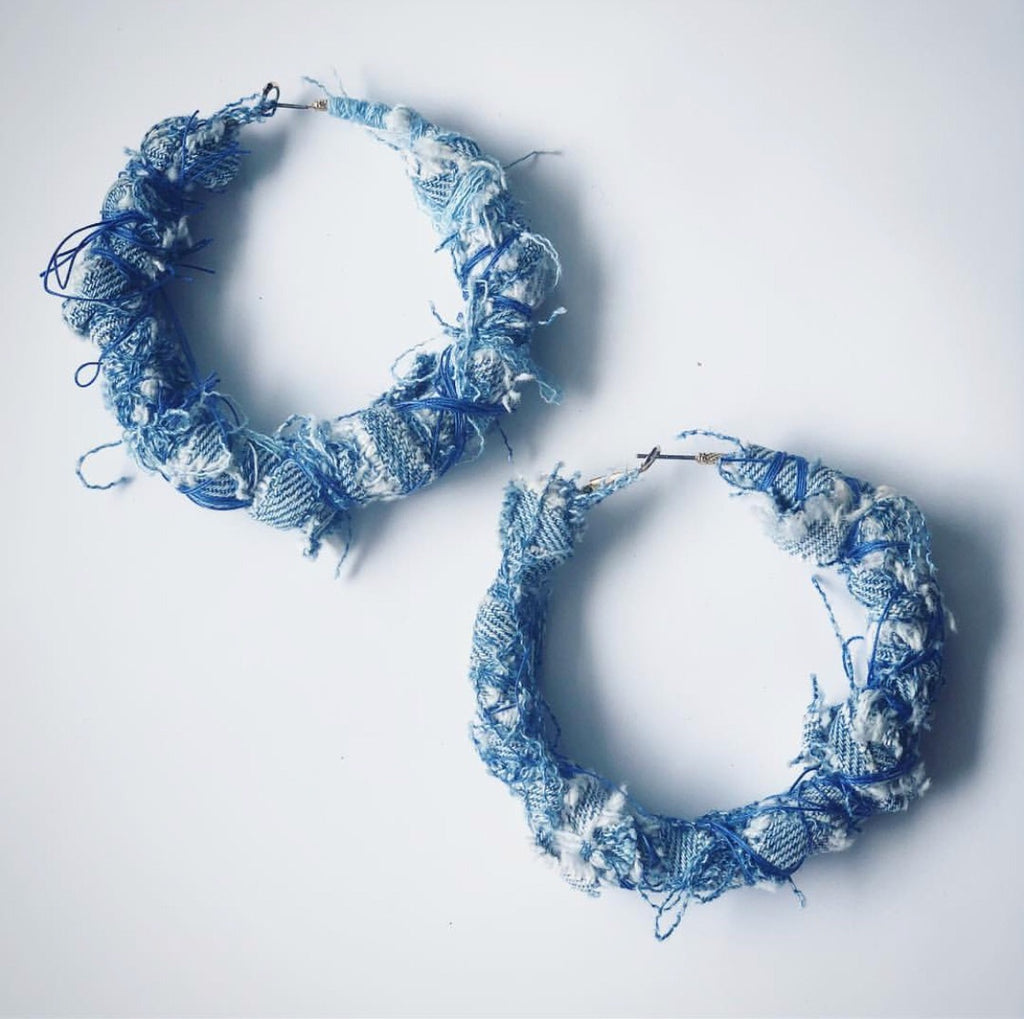 Thick Denim Hoop
