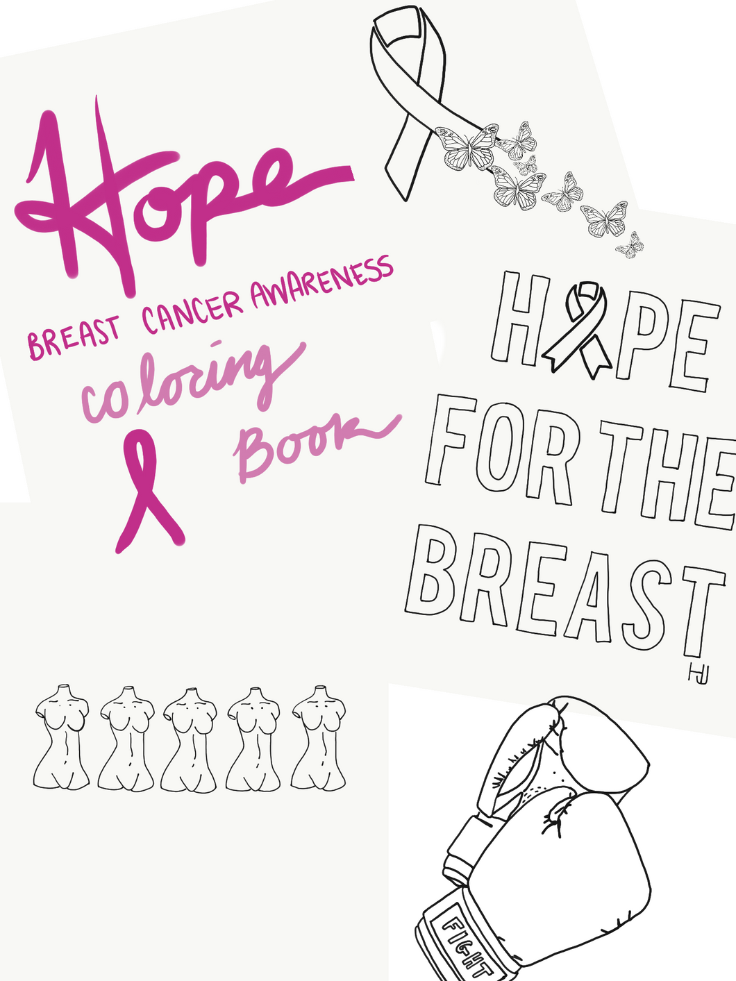 Breast Cancer Coloring Book