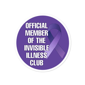 Invisible illness club Bubble-free stickers