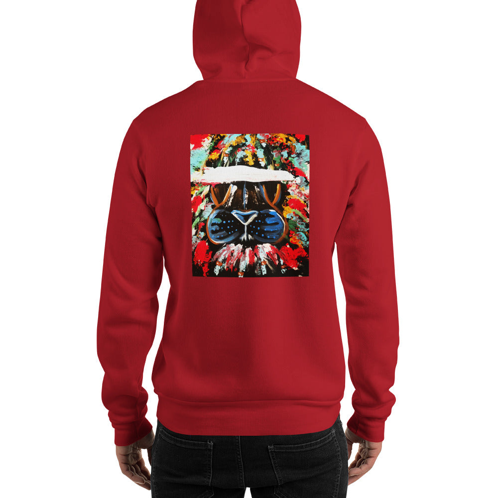Abstract Lion Hooded Sweatshirt