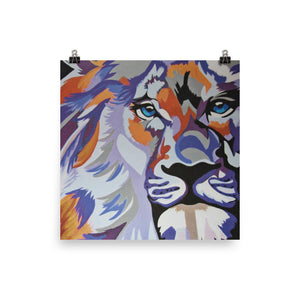 Purple Lion Glossy Photo paper poster