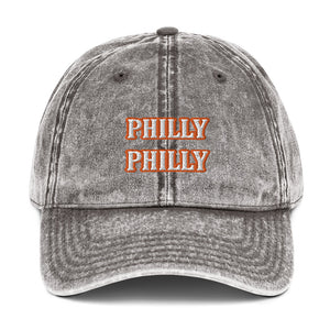 Orange Philly Vintage Cotton Twill Cap