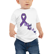 Load image into Gallery viewer, Butterfly ribbon Baby Jersey Short Sleeve Tee