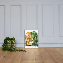 Load image into Gallery viewer, Garden Lion Canvas Print