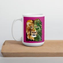 Load image into Gallery viewer, Pink Garden Lion Mug