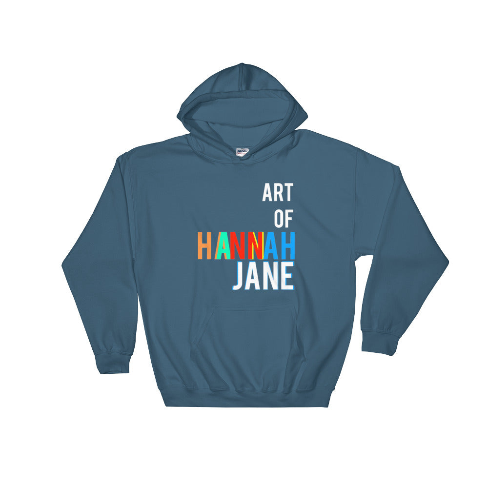 AoHJ White Lettering Hooded Sweatshirt