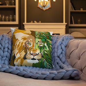 Garden Lion Basic Pillow