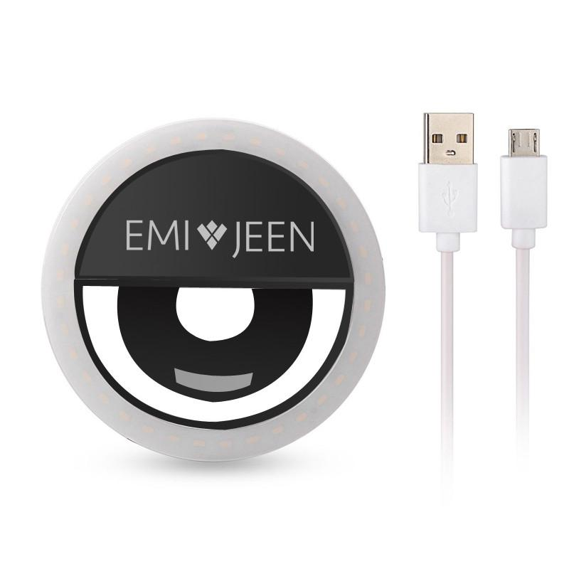 Emi Jeen Selfie LED Rechargable Ring Light for Smart Phone - emijeen