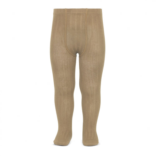 Condor tights : Condor ribbed tights in Camel - Condor children tights