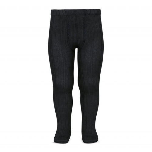 Condor tights : Condor ribbed tights in Black - Condor children tights