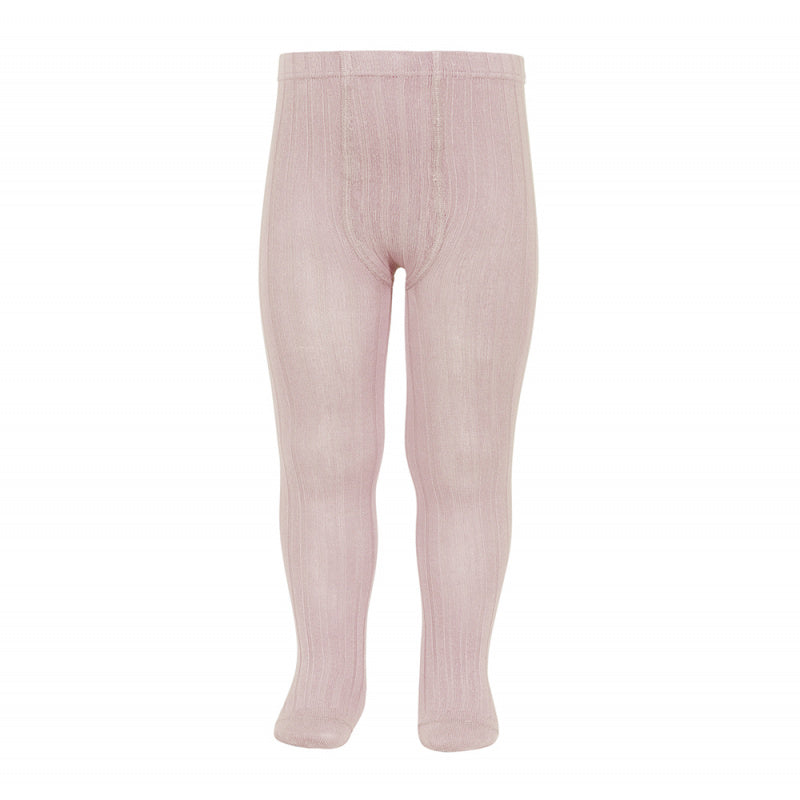 Condor tights : Condor ribbed tights in old pink - Condor children tights