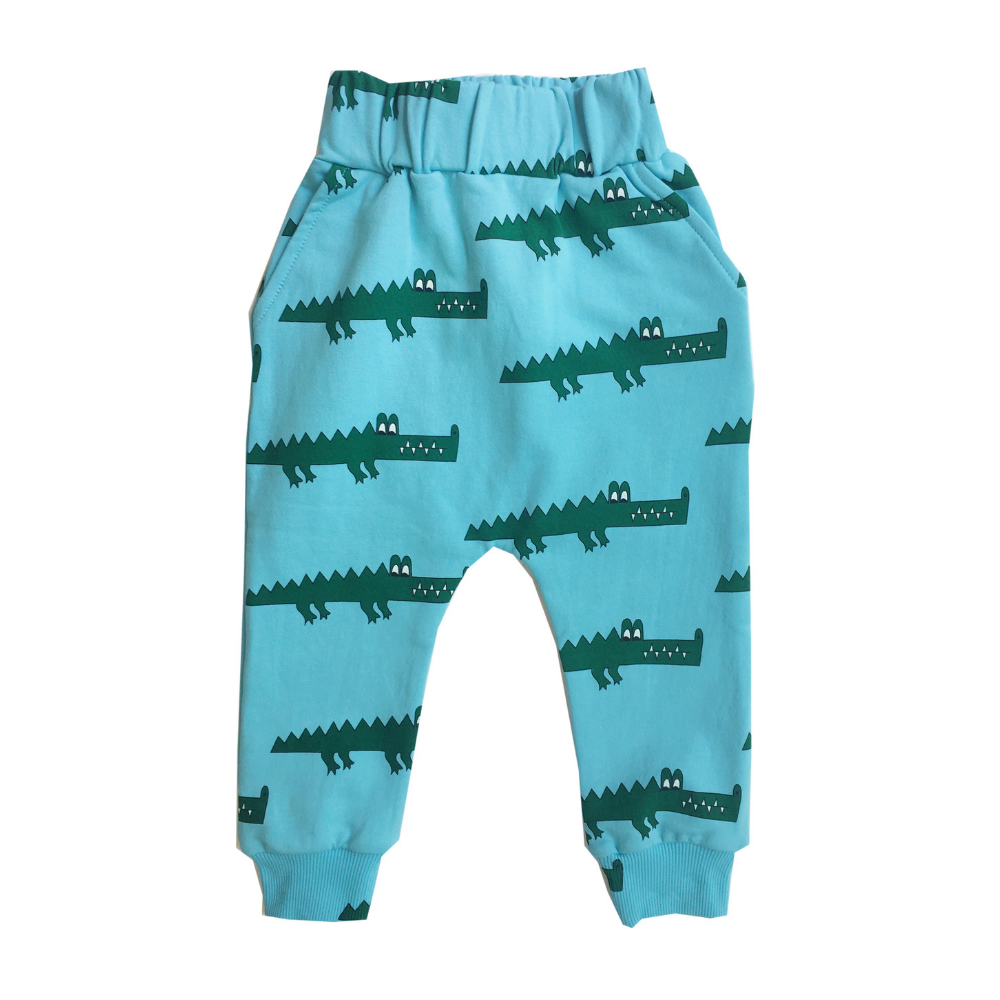 Hugo Loves Tiki Canada & USA : Blue crocodile sweat pants -Hugo Loves Tiki pants