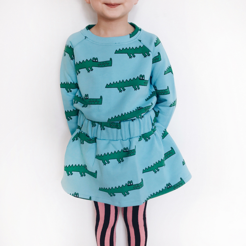 Hugo Loves Tiki : Blue crocodile skirt - Hugo Loves Tiki skirt