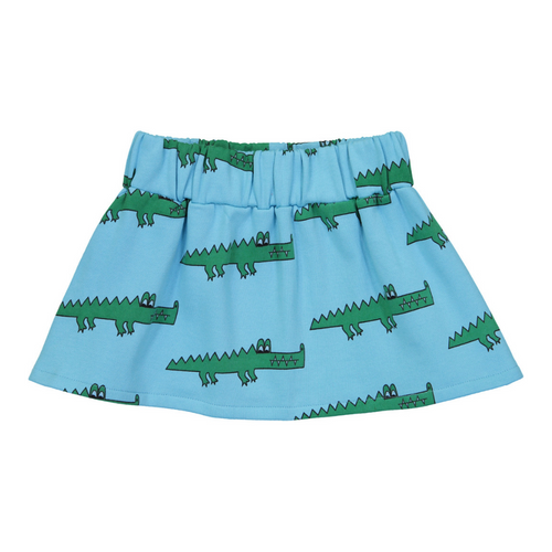 Hugo Loves Tiki Canada & USA : Blue crocodile skirt - Hugo Loves Tiki skirt