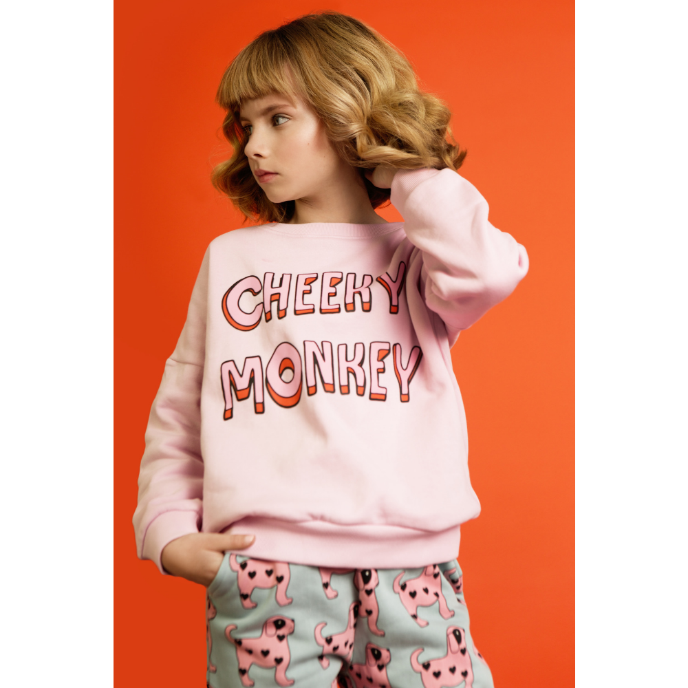 hugo loves tiki cheeky monkey sweatshirt