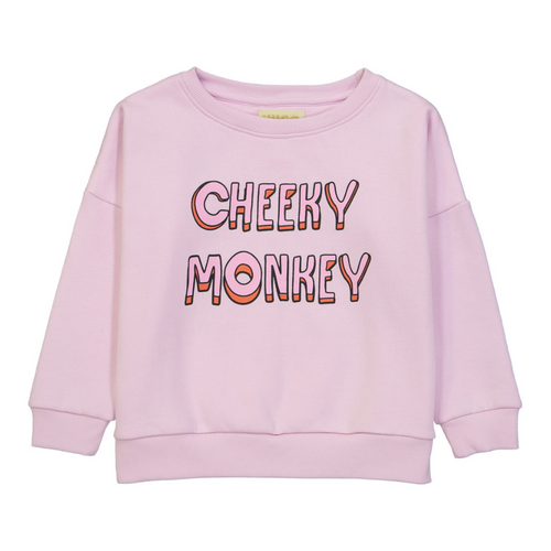 hugo loves tiki cheeky monkey wide sweatshirt