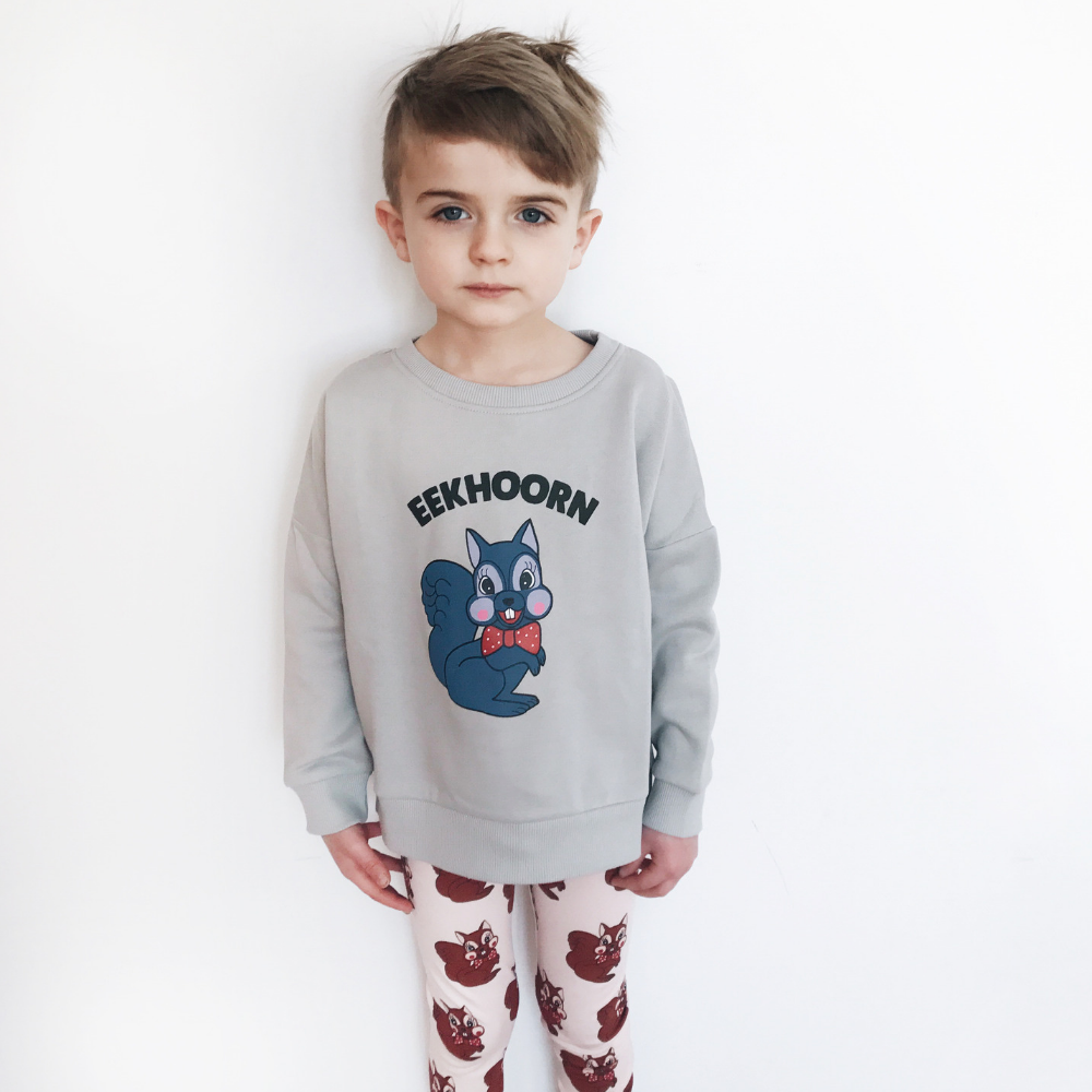hugo loves tiki eekhoorn sweatshirt