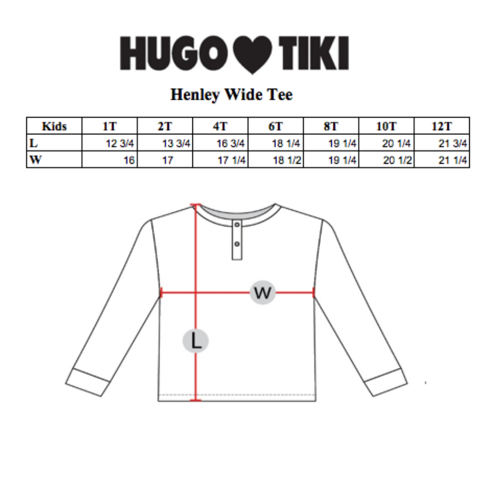 Hugo Loves Tiki : Henley wide tee