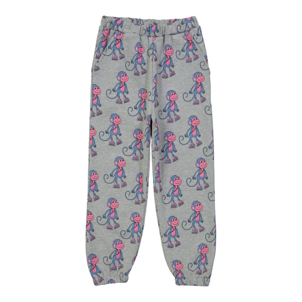 hugo loves tiki organic cotton monkeys pants
