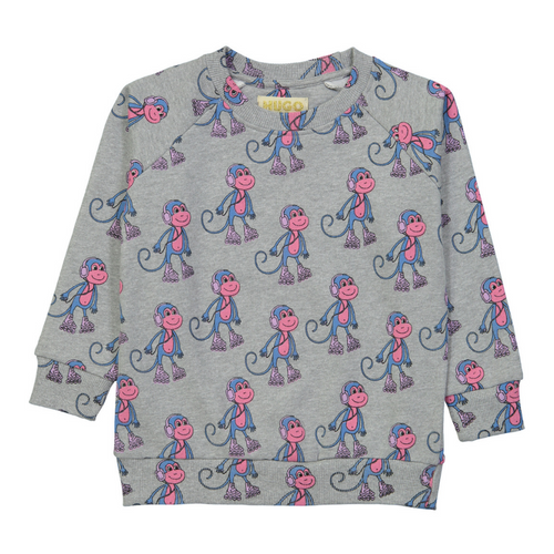hugo loves tiki monkeys sweatshirt