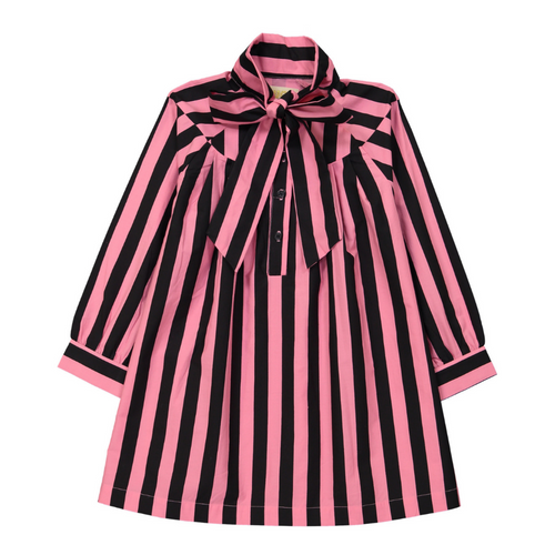 Hugo Loves Tiki Canada & USA : Pink black stripes bow dress - Hugo Loves Tiki dress