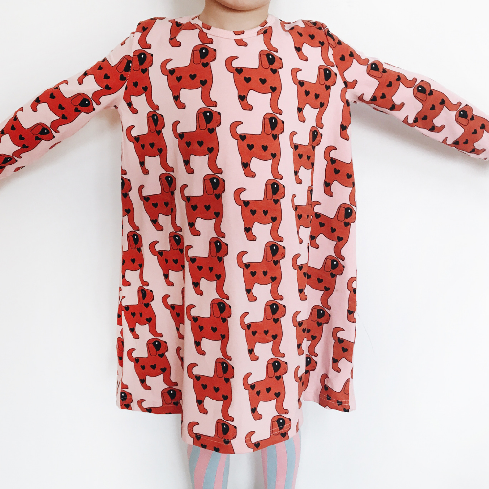 Hugo Loves Tiki : Red dogs swing dress - Hugo Loves Tiki dress