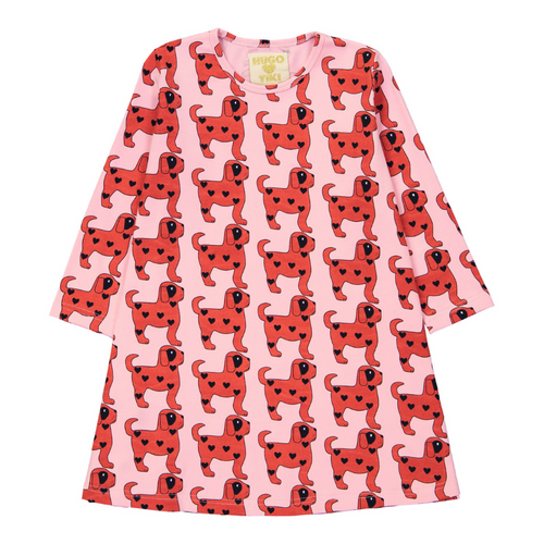 Hugo Loves Tiki Canada & USA : Red dogs swing dress - Hugo Loves Tiki dress