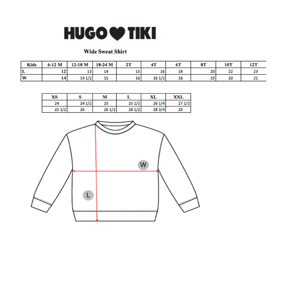 Hugo Loves Tiki Wide Sweatshirt - Cheeky Monkey
