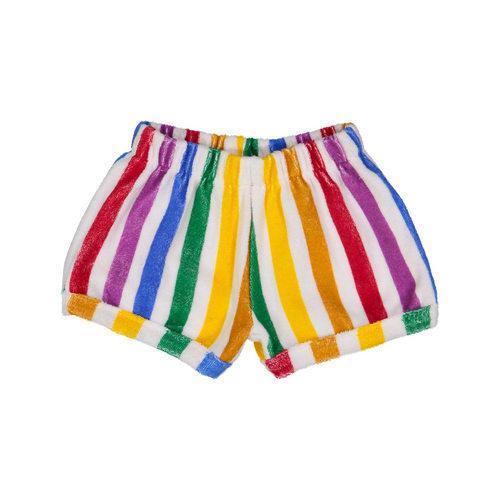 hugo loves tiki terry shorts rainbow stripe