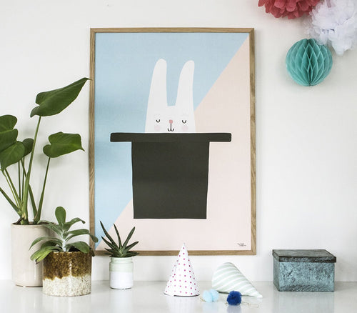 Michelle Carlslund : Bunny  Hat Trick Poster - Wall decoration