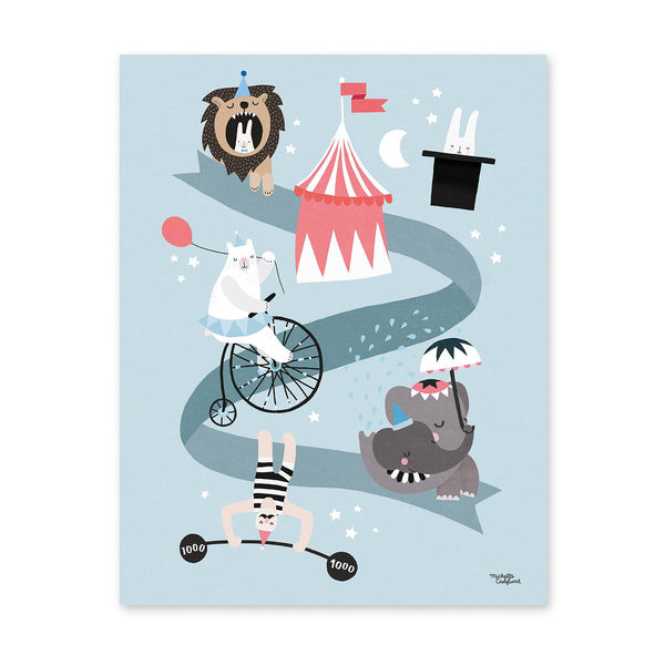 Michelle Carlslund : Affiche Circus Friends - Décoration murale