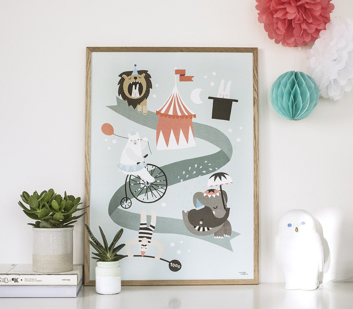 Michelle Carlslund : Circus friends poster - wall decoration