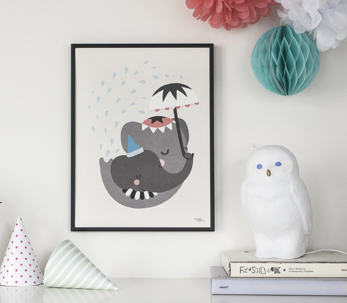 Michelle Carlslund : Elephant love poster - Wall Decoration