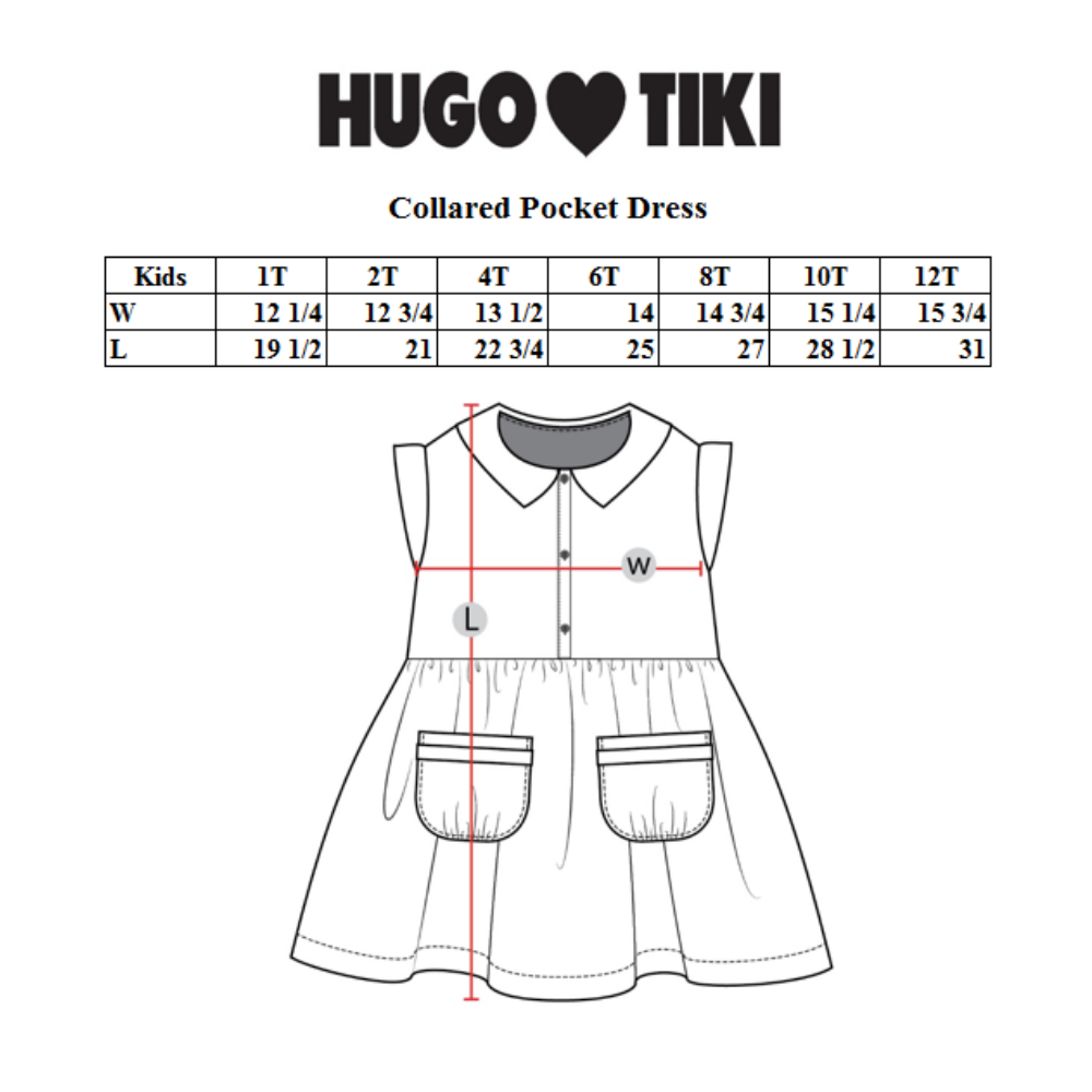 Hugo Loves Tiki Collared Pocket Dress - Green Fish