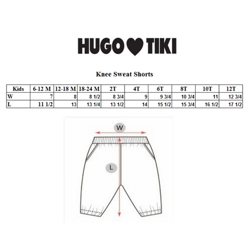 Hugo Loves Tiki Knee Sweat Shorts - Purple Raspberries