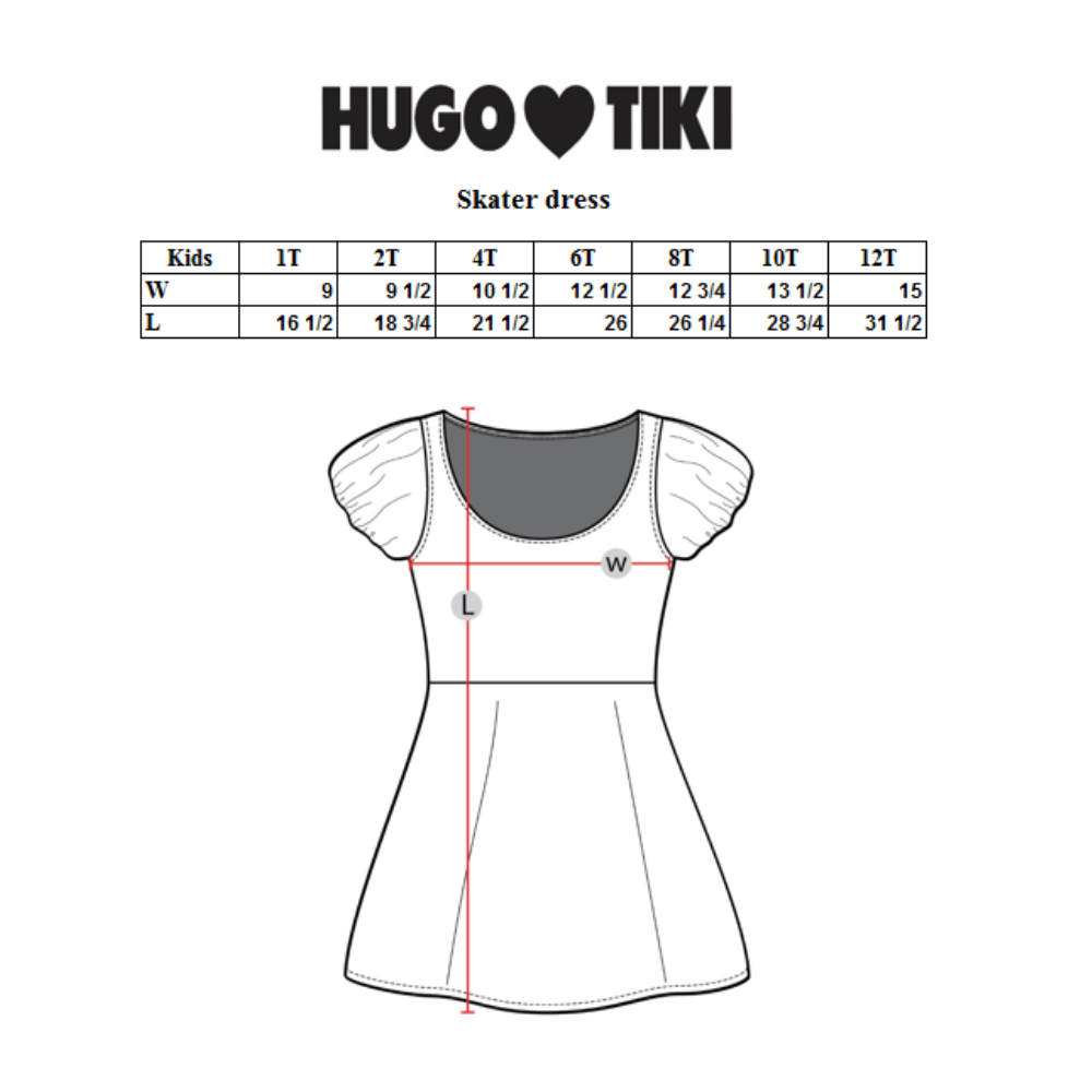 Hugo Loves Tiki Skater Dress - Red Poodle