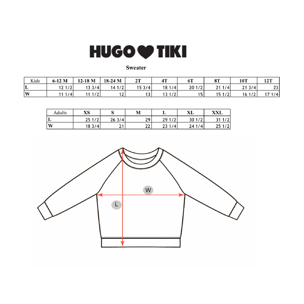 Hugo Loves Tiki : Super Hero sweatshirt - Hugo Loves Tiki sweatshirts