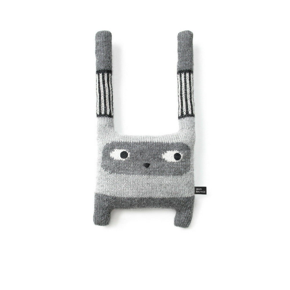 main sauvage humus grey rabbit plushtoy