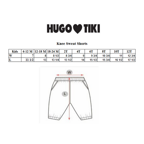 Hugo Loves Tiki Knee Sweat Shorts - Blue Fish