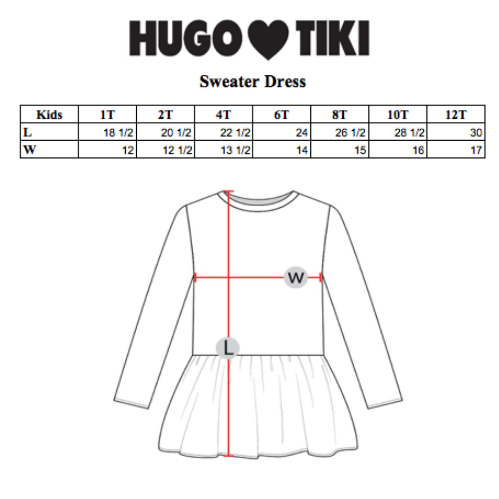 Hugo Loves Tiki : Hot dogs sweater dress - Hugo Loves Tiki dress