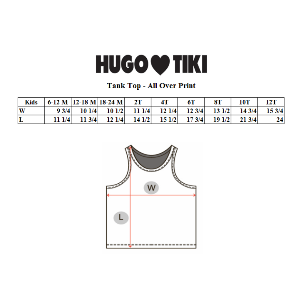 Hugo Loves Tiki Tank Top - Green Fish