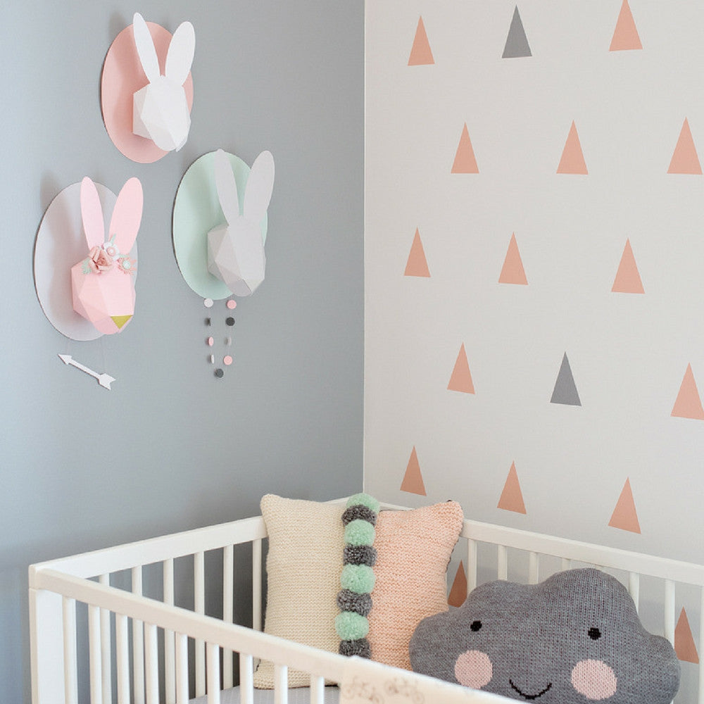 Chloe Fleury : Pink paper bunny - wall decoration