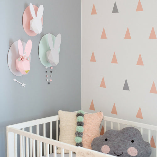Chloe Fleury : white paper bunny - wall decoration