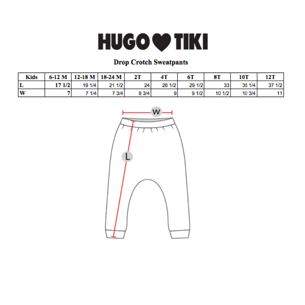 Hugo Loves Tiki : Blue crocodile drop crotch sweat pants - Hugo Loves Tiki pants