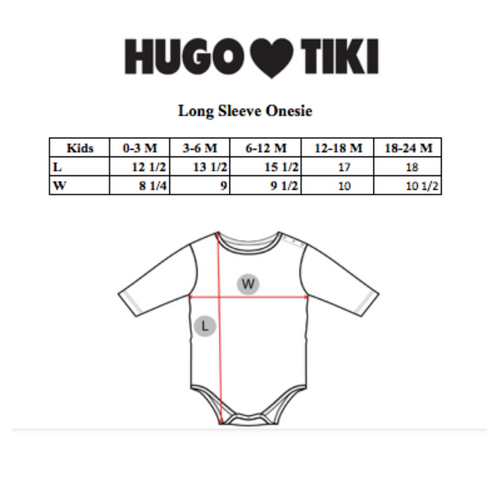 Hugo Loves Tiki : Eekhoorn long sleeve onesie - Hugo Loves Tiki onesie